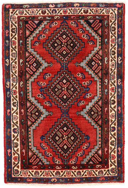 Hamadan Matto 76X115 Itämainen Käsinsolmittu Tummanpunainen/Ruoste (Villa, Persia/Iran)