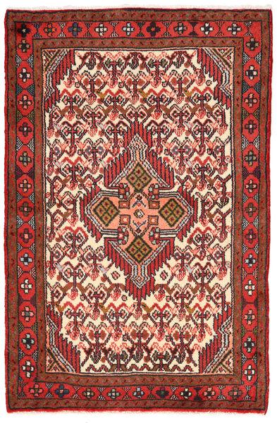 Hamadan Matto 77X118 Itämainen Käsinsolmittu Tummanruskea/Ruoste (Villa, Persia/Iran)