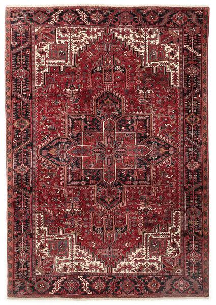Heriz Matto 255X365 Itämainen Käsinsolmittu Tummanpunainen/Tummanruskea Isot (Villa, Persia/Iran)