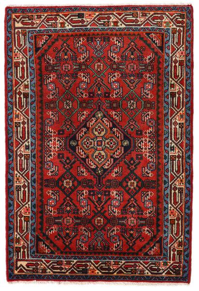 Hamadan Matto 78X117 Itämainen Käsinsolmittu Ruoste/Tummanpunainen/Musta (Villa, Persia/Iran)