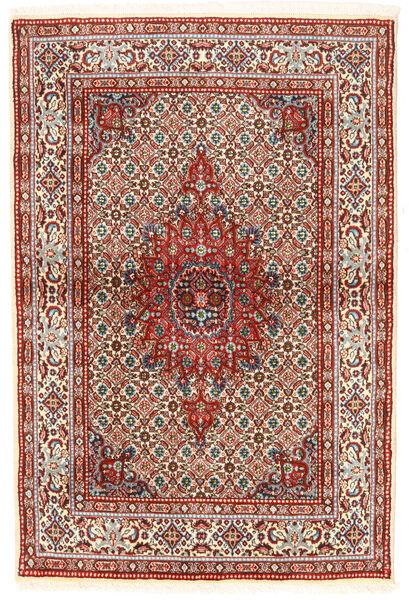 Moud Matto 97X147 Itämainen Käsinsolmittu Tummanruskea/Beige (Villa/Silkki, Persia/Iran)