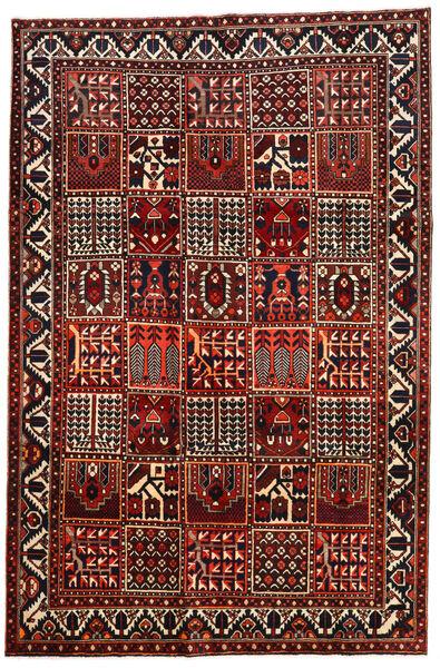 Bakhtiar Matto 207X315 Itämainen Käsinsolmittu Tummanpunainen/Musta (Villa, Persia/Iran)