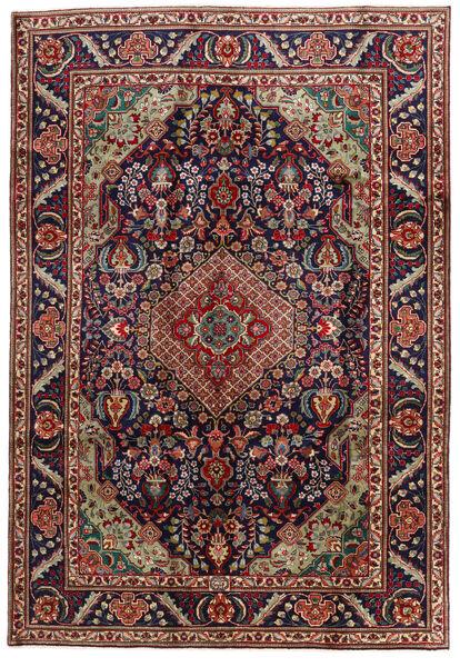 Tabriz Matto 201X295 Itämainen Käsinsolmittu Tummanpunainen/Musta (Villa, Persia/Iran)