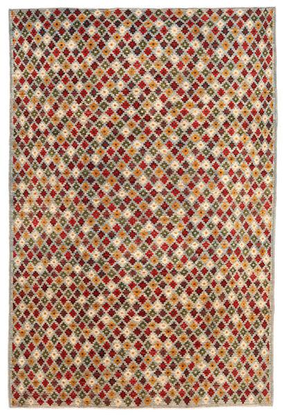 Moroccan Berber - Afghanistan Matto 197X297 Moderni Käsinsolmittu Vaaleanharmaa/Tummanpunainen (Villa, Afganistan)