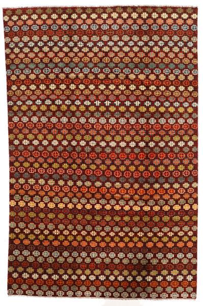 Moroccan Berber - Afghanistan Matto 194X298 Moderni Käsinsolmittu Tummanpunainen/Tummanruskea (Villa, Afganistan)