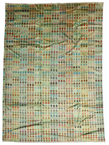 Moroccan Berber - Afghanistan Matto 207X288 Moderni Käsinsolmittu Vaaleanvihreä/Oliivinvihreä (Villa, Afganistan)