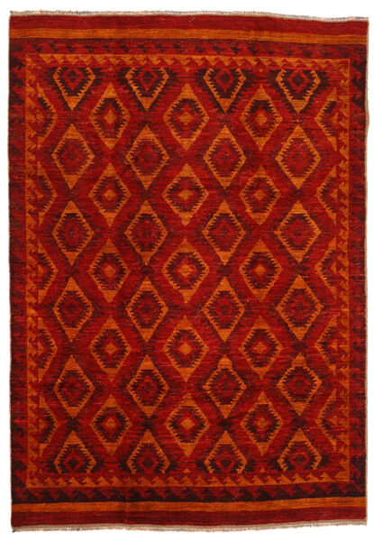 Moroccan Berber - Afghanistan Matto 200X285 Moderni Käsinsolmittu Tummanpunainen/Ruoste (Villa, Afganistan)