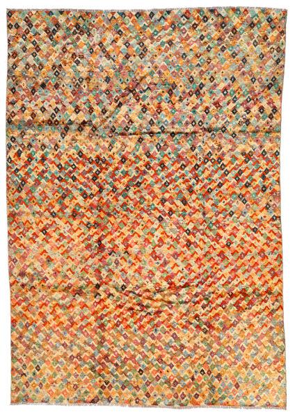 Moroccan Berber - Afghanistan Matto 203X292 Moderni Käsinsolmittu Tummanbeige/Oranssi (Villa, Afganistan)