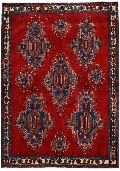 Afshar/Sirjan Matto 168X235 Itämainen Käsinsolmittu Tummanpunainen/Tummanvioletti (Villa, Persia/Iran)