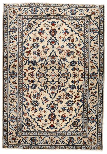 Keshan Matto 103X146 Itämainen Käsinsolmittu Beige/Musta/Vaaleanharmaa (Villa, Persia/Iran)