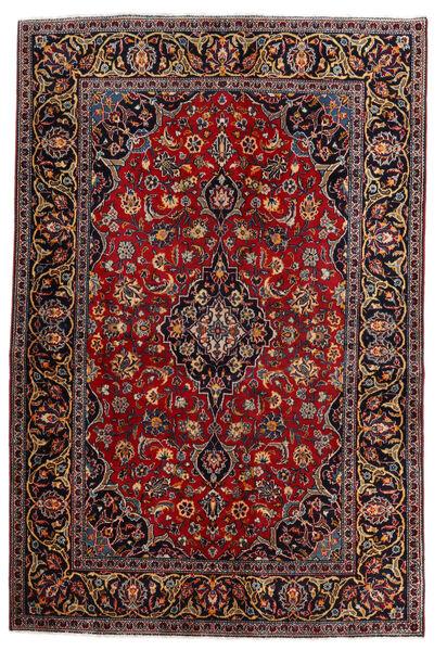 Keshan Matto 140X210 Itämainen Käsinsolmittu Tummanpunainen (Villa, Persia/Iran)