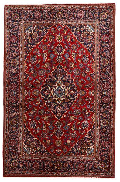 Keshan Matto 134X208 Itämainen Käsinsolmittu Tummanpunainen/Musta (Villa, Persia/Iran)