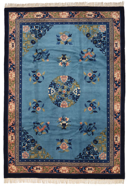 Kiina Antiikkiviimeistely Matto 213X305 Itämainen Käsinsolmittu Sininen/Tummanvioletti (Villa, Kiina)