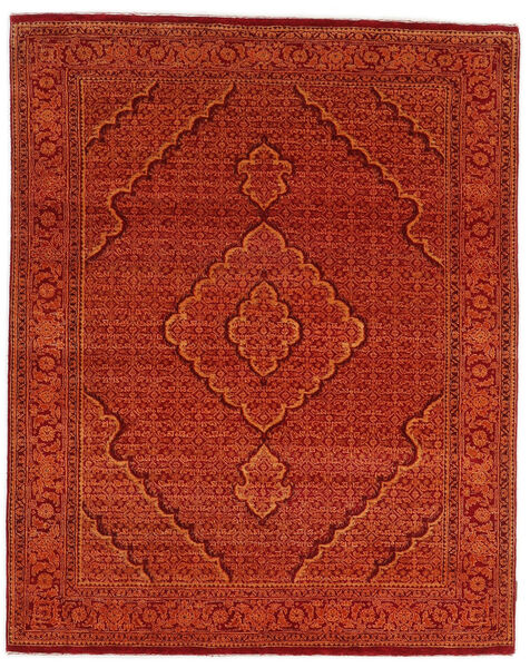 Gabbeh Loribaft Matto 155X195 Moderni Käsinsolmittu Ruoste/Tummanpunainen (Villa, Intia)