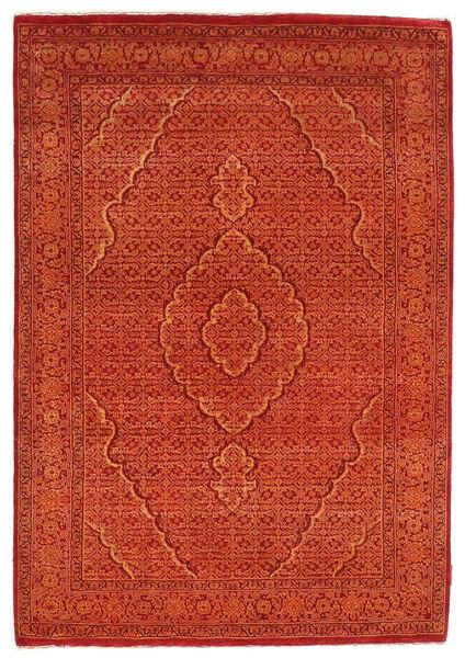 Gabbeh Loribaft Matto 128X182 Moderni Käsinsolmittu Oranssi/Punainen/Ruoste (Villa, Intia)