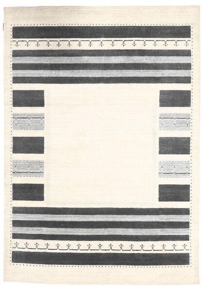 Loribaf Loom Matto 163X234 Moderni Käsinsolmittu Beige/Tummanharmaa (Villa, Intia)