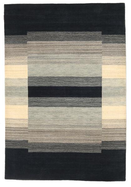 Loribaf Loom Matto 162X237 Moderni Käsinsolmittu Musta/Vaaleanharmaa (Villa, Intia)