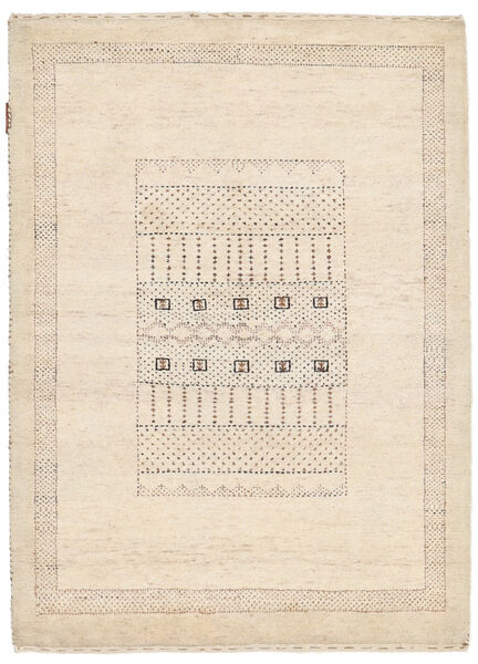 Gabbeh Loribaft Matto 94X128 Moderni Käsinsolmittu Beige (Villa, Intia)