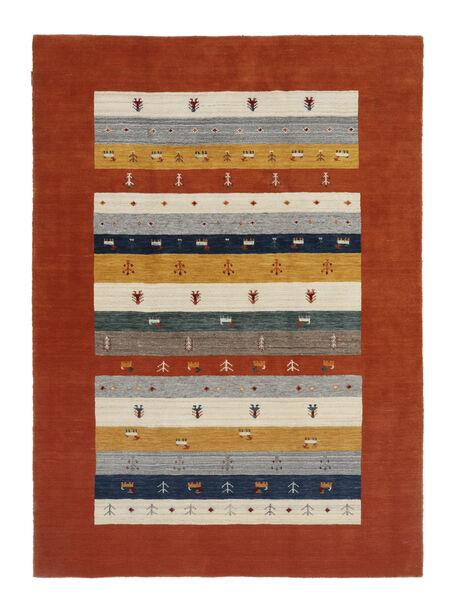 Loribaf Loom Matto 167X233 Moderni Käsinsolmittu Tummanpunainen/Beige (Villa, Intia)