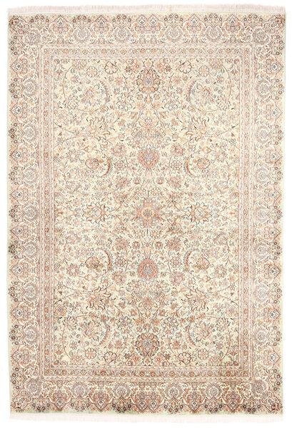 Kashmir 100% Silkki Matto 170X250 Itämainen Käsinsolmittu Beige/Vaaleanruskea (Silkki, Intia)