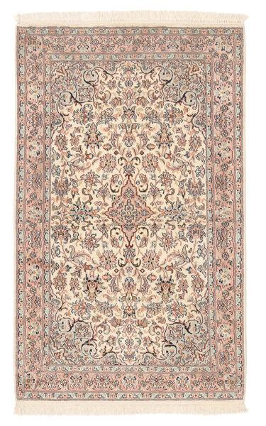 Kashmir 100% Silkki Matto 80X132 Itämainen Käsinsolmittu Tummanruskea/Vaaleanruskea (Silkki, Intia)