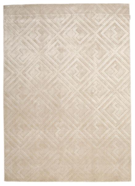 Viskoosi Moderni Matto 174X242 Moderni Käsinsolmittu Vaaleanruskea/Vaaleanharmaa ( Intia)