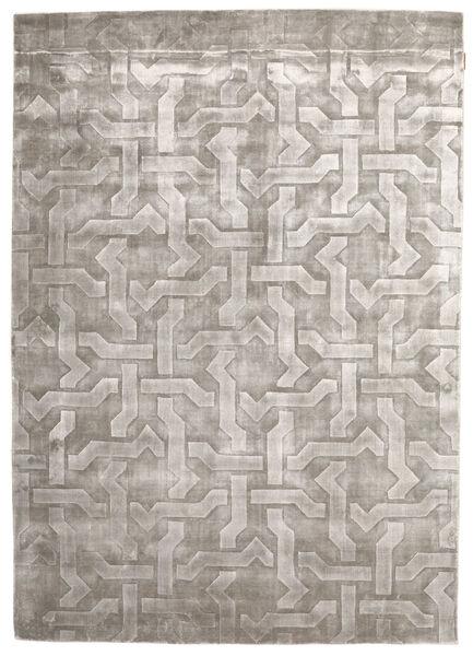 Viskoosi Moderni Matto 170X241 Moderni Käsinsolmittu Tummanharmaa/Vaaleanharmaa ( Intia)