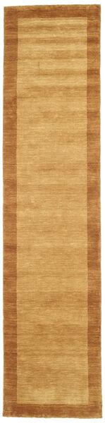 Handloom Frame - Kulta Matto 80X250 Moderni Käytävämatto Vaaleanruskea/Ruskea/Keltainen (Villa, Intia)