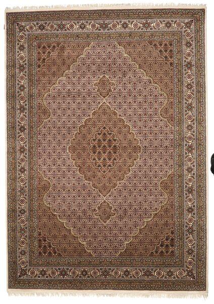 Tabriz Royal Matto 248X349 Itämainen Käsinsolmittu Ruskea/Tummanruskea ( Intia)