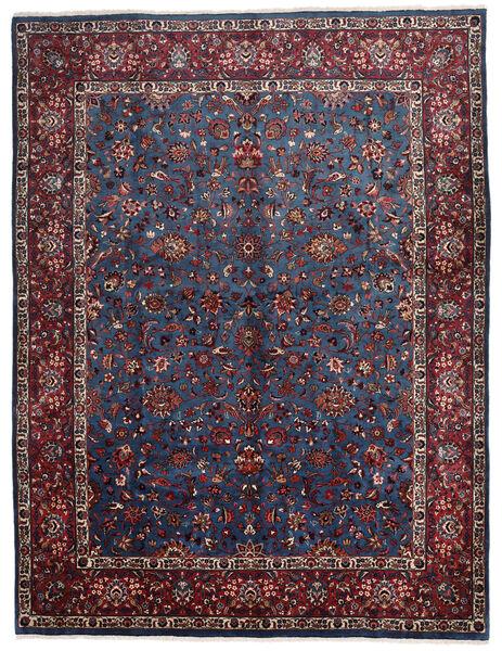 Mashad Matto 305X400 Itämainen Käsinsolmittu Musta/Tummanpunainen Isot (Villa, Persia/Iran)