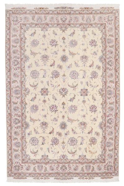 Tabriz 60 Raj Silkkiloimi Matto 174X264 Itämainen Käsinsolmittu Beige/Vaaleanpunainen/Vaaleanharmaa (Villa/Silkki, Persia/Iran)
