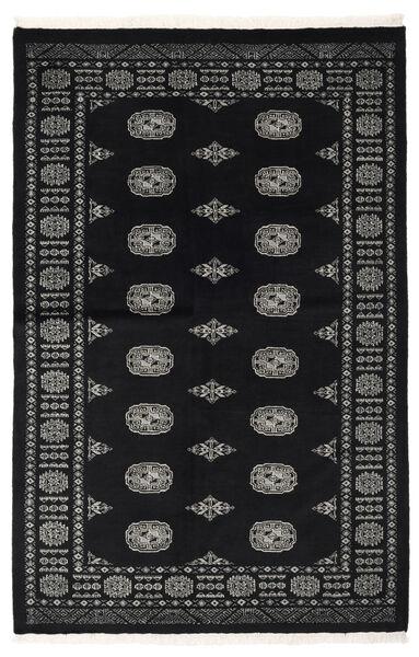 Pakistan Bokhara 2Ply Matto 134X206 Itämainen Käsinsolmittu Musta/Tummanharmaa (Villa, Pakistan)