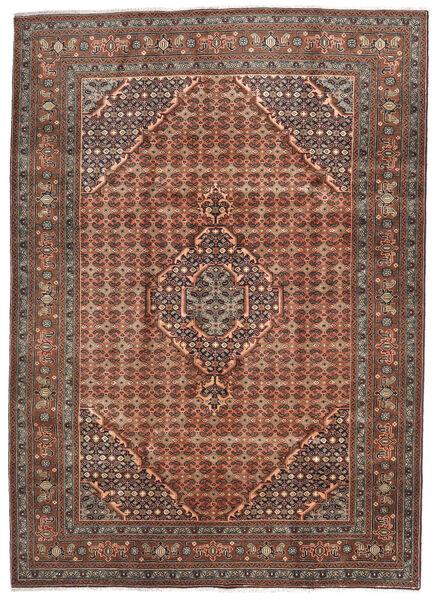 Ardebil Matto 202X281 Itämainen Käsinsolmittu Tummanpunainen/Tummanruskea (Villa, Persia/Iran)