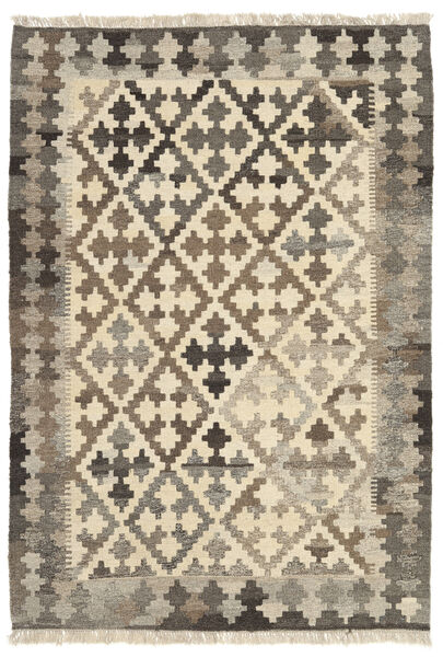 Kelim Matto 106X151 Itämainen Käsinkudottu Vaaleanharmaa/Beige (Villa, Persia/Iran)