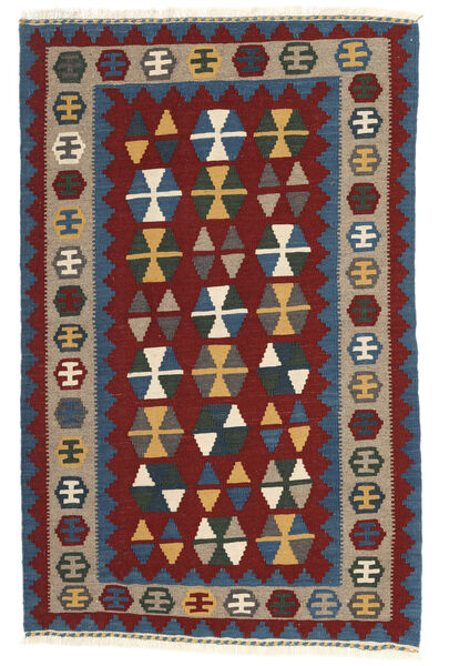 Kelim Matto 102X157 Itämainen Käsinkudottu Tummanpunainen/Tummansininen (Villa, Persia/Iran)