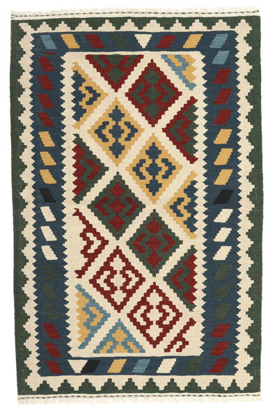 Kelim Matto 103X156 Itämainen Käsinkudottu Tummanharmaa/Beige (Villa, Persia/Iran)