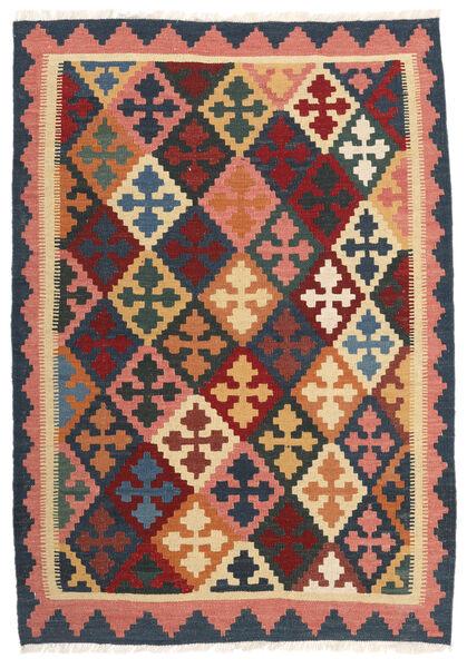 Kelim Matto 103X150 Itämainen Käsinkudottu Tummanharmaa/Tummanpunainen (Villa, Persia/Iran)