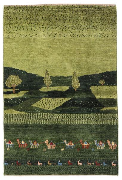 Gabbeh Persia Matto 104X150 Moderni Käsinsolmittu Tummanvihreä/Oliivinvihreä (Villa, Persia/Iran)