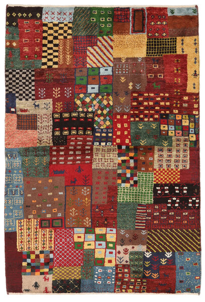 Gabbeh Persia Matto 103X150 Moderni Käsinsolmittu Tummanpunainen/Tummanruskea (Villa, Persia/Iran)