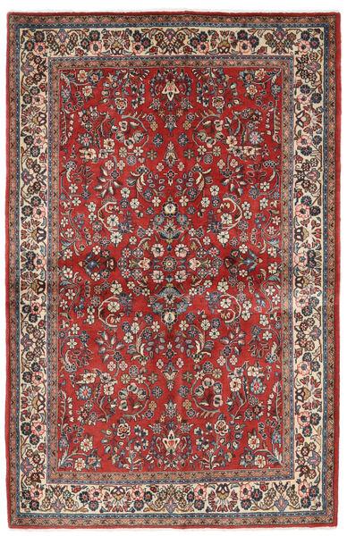 Sarough Matto 132X206 Itämainen Käsinsolmittu Tummanpunainen/Beige (Villa, Persia/Iran)