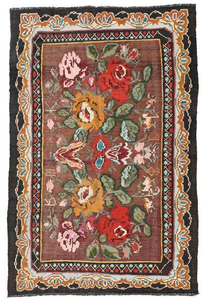 Ruusukelim Moldavia Matto 134X204 Itämainen Käsinkudottu Tummanpunainen/Musta (Villa, Moldova)
