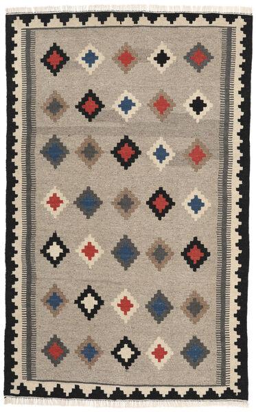 Kelim Matto 102X165 Itämainen Käsinkudottu Vaaleanharmaa/Tummanharmaa (Villa, Persia/Iran)