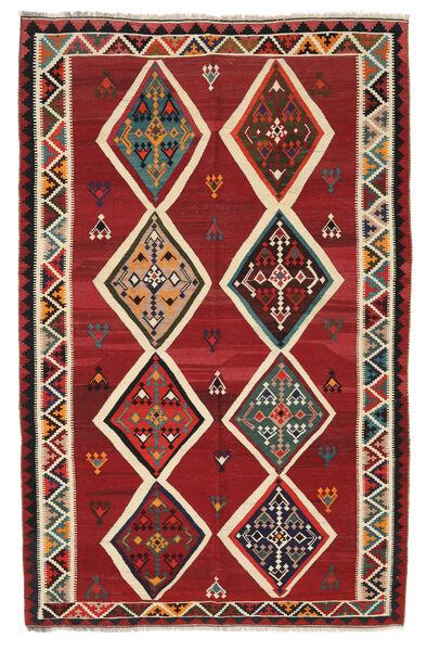Kelim Vintage Matto 158X245 Itämainen Käsinkudottu Tummanpunainen/Tummanruskea (Villa, Persia/Iran)