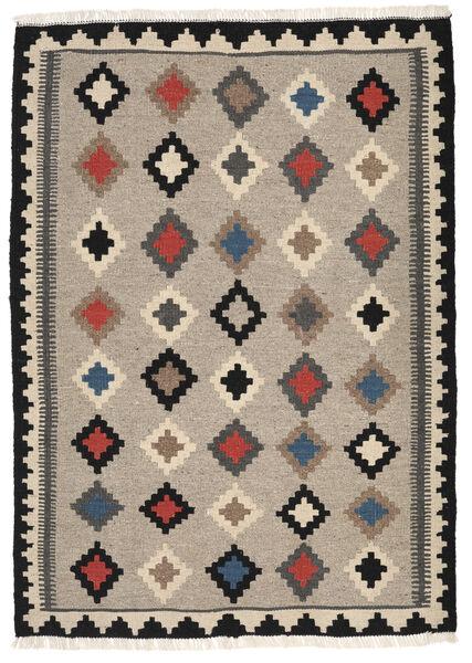 Kelim Matto 102X144 Itämainen Käsinkudottu Vaaleanharmaa/Tummanharmaa/Beige (Villa, Persia/Iran)