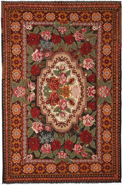 Ruusukelim Moldavia Matto 240X366 Itämainen Käsinkudottu Tummanruskea/Tummanpunainen (Villa, Moldova)