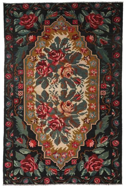 Ruusukelim Moldavia Matto 194X301 Itämainen Käsinkudottu Musta/Tummanharmaa (Villa, Moldova)