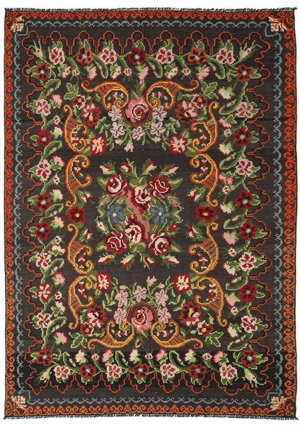 Ruusukelim Moldavia Matto 191X282 Itämainen Käsinkudottu Musta/Tummanvihreä (Villa, Moldova)