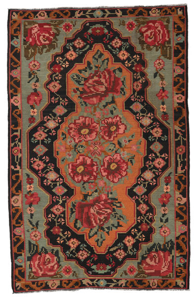 Ruusukelim Moldavia Matto 185X285 Itämainen Käsinkudottu Tummanpunainen/Musta (Villa, Moldova)
