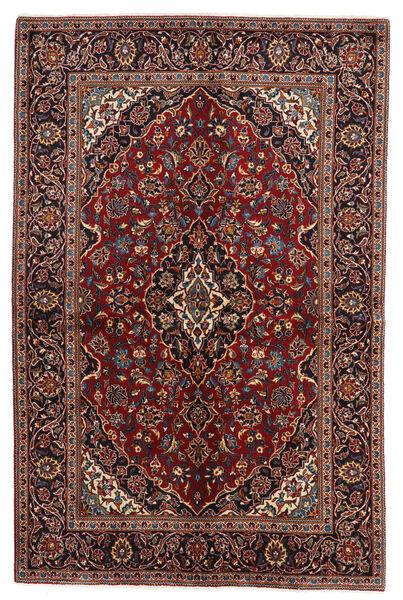 Keshan Matto 141X212 Itämainen Käsinsolmittu Tummanpunainen/Tummanharmaa (Villa, Persia/Iran)