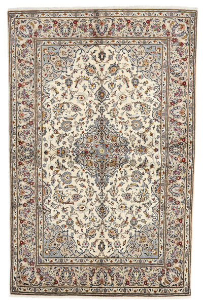 Keshan Matto 140X213 Itämainen Käsinsolmittu Vaaleanharmaa/Valkoinen/Creme (Villa, Persia/Iran)